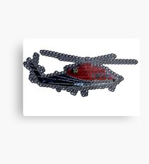 Crochet Helicopter Metal Print