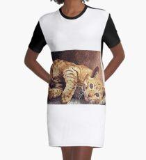 Morning cat Graphic T-Shirt Dress