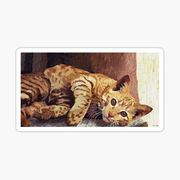 Morning cat Sticker