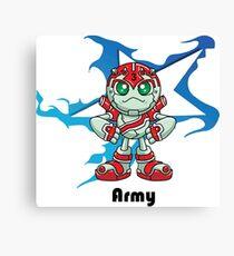 "Robobot ""Off to Mars"" / Three / Robot Army Star Canvas Print"