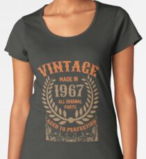 Vintage Made In 1967 Distressed Birthday Gift Women's Premium T-Shirt