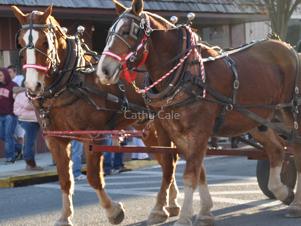 Christmas Horses 2 by Cathy Cale