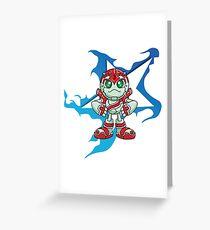 "Robobot ""Off to Mars"" / Three / Star Greeting Card"