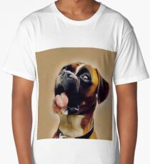 Cute fun boxer dog  Long T-Shirt