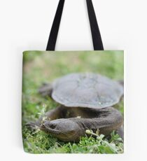 Long Neck Turtle Tote Bag