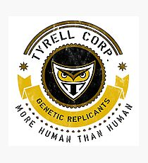 Tyrell Corporation Crest Photographic Print