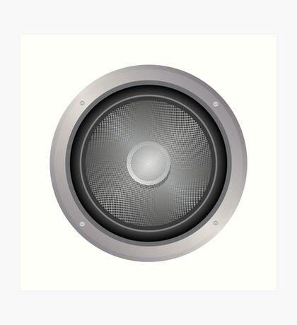 Audio-Lautsprecher Kunstdruck