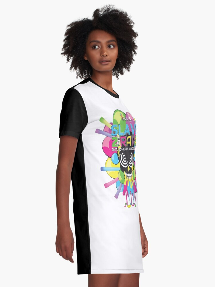 Alternate view of BPMBoost Presents: Slave to the Rave Graphic T-Shirt Dress