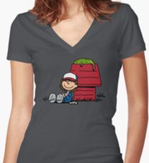 Dustin Brown Women's Fitted V-Neck T-Shirt
