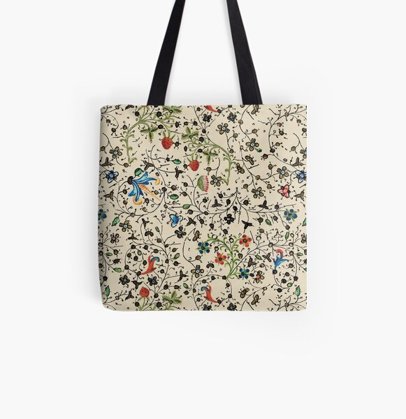 Medieval floral pattern – State Library Victoria All Over Print Tote Bag