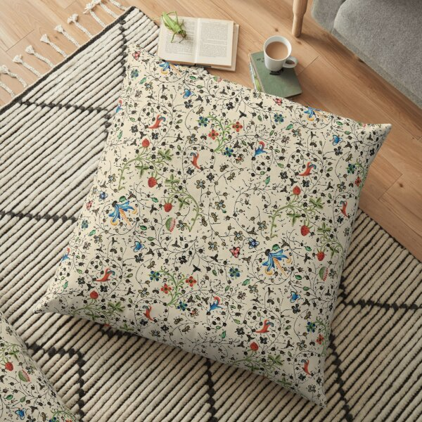 Medieval floral pattern – State Library Victoria Floor Pillow