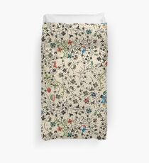 Medieval floral pattern – State Library Victoria Duvet Cover