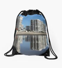 Reflections of Life On The Beach Drawstring Bag