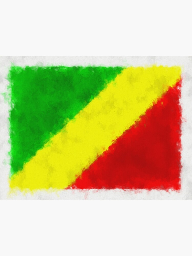Republic Of Congo (Brazzaville) Flag Reworked No. 66, Series 5 by 8th-and-f