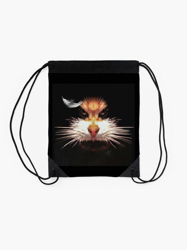 Sac à cordon ''Naughty cat': autre vue