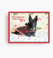 Cookies for Santa Paws Canvas Print