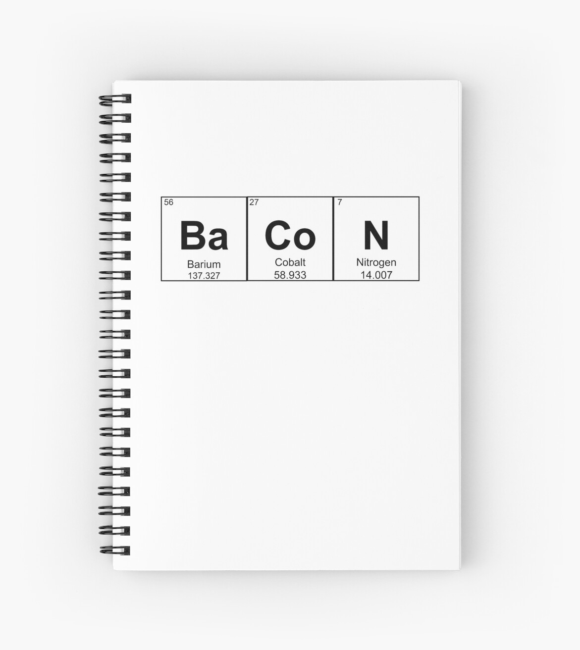 Bacon Chemistry Element Periodic Table Science Pun Spiral