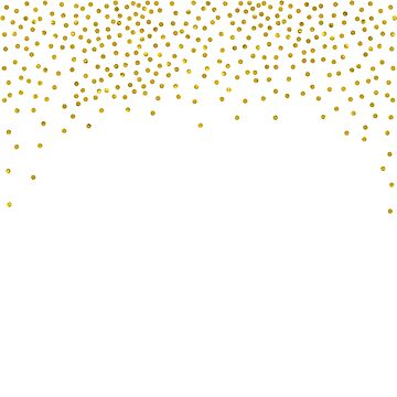 Gold Confetti Dot Pattern by SaMack