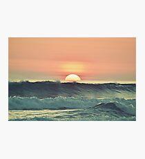 Ocean sunset Photographic Print