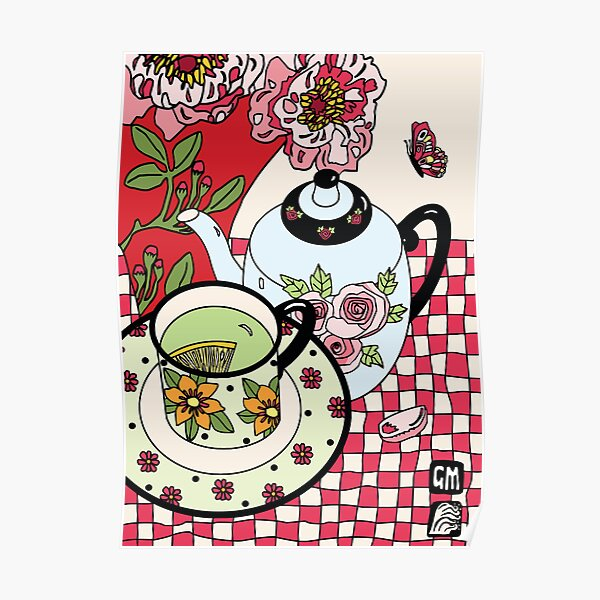 Green Tea and Rhododendrons Poster