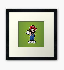 Mario Old School Framed Print