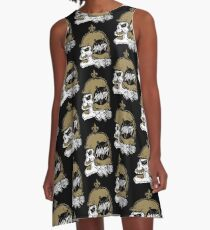 SAINTanic Who Dat Skull A-Line Dress