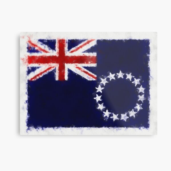 Cook Islands Flag Reworked No. 66, Series 5 Metal Print