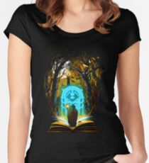 Book of Magic and Adventures Women's Fitted Scoop T-Shirt