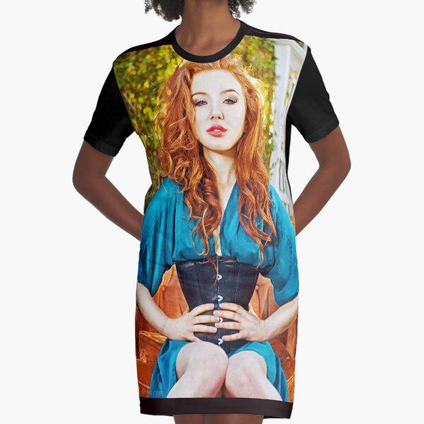 """""""The Waist Cincher"""" Graphic T-Shirt Dress"""