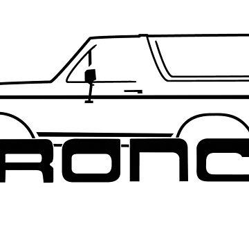 1987-1991 Bronco, side w/logo by TheOBSApparel