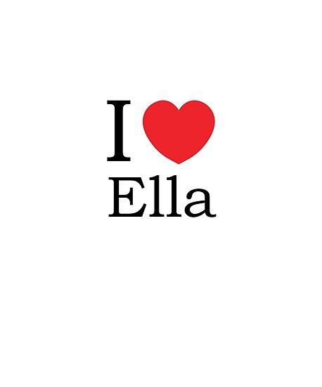 bd40c7a0c4db97 I Love Ella - With Simple Love Heart