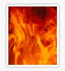 Burning Fire Flames Design Sticker