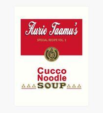 Cucco Noodle Soup Art Print
