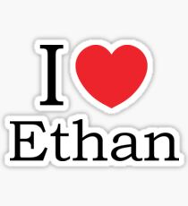I Love Ethan - With Simple Love Heart Sticker