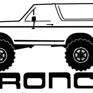 1987-1991 Bronco side w/tires and logo by TheOBSApparel