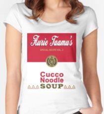 Cucco Noodle Soup Women's Fitted Scoop T-Shirt