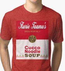 Cucco Noodle Soup Tri-blend T-Shirt