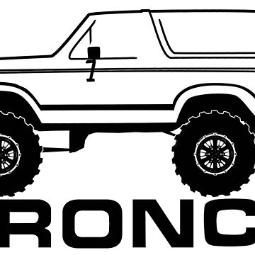 1980-1986 Bronco side, w/tires and logo by TheOBSApparel