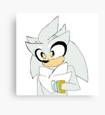 Silver Cute Print Canvas Print