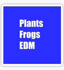 Plants Frogs EDM - Blue Sticker
