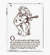 Once Upon A Guitar iPad Case/Skin