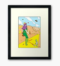 Desert Saucers  [Pen Drawn Fantasy Figure Illustration] Framed Print