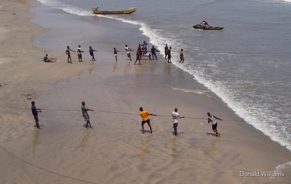 Net fishing, Accra, Ghana, 2005 by Donald Williams