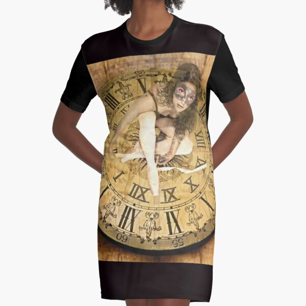 """""""Carnival of Time"""" Graphic T-Shirt Dress"""