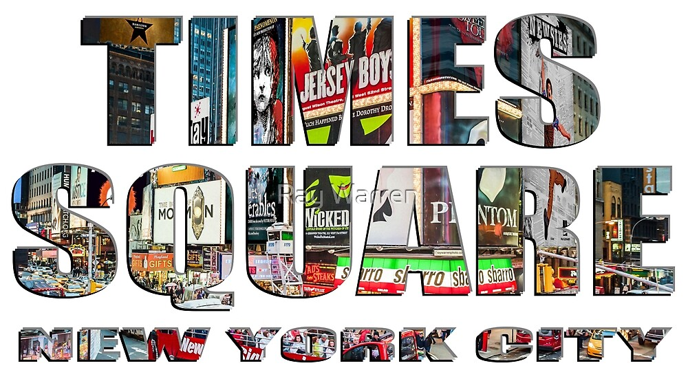 TIMES SQUARE New York City (lettering) by Ray Warren