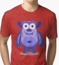 Cute cartoon monster Tri-blend T-Shirt