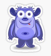 Cute cartoon monster Sticker