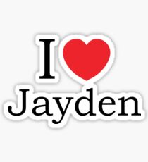 I Love Jayden - With Simple Love Heart Sticker