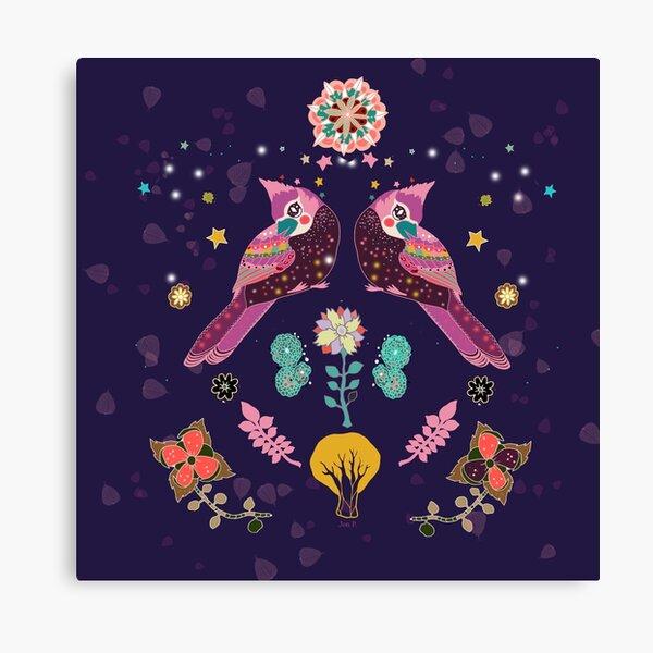 Whimsical Nightingales Canvas Print