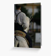 Portuguese Rider Greeting Card